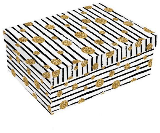 514-Kutija Prugasta-Zlatna Image