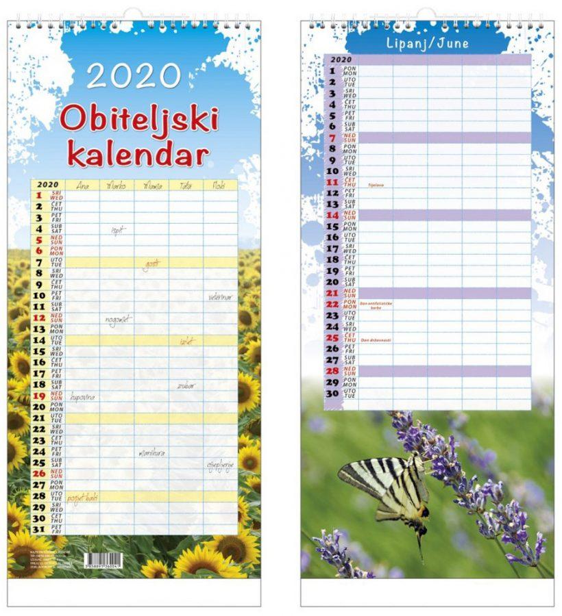 JANPROM kalendar obiteljski 2020
